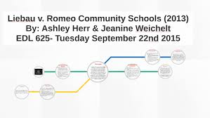 Liebau v. Romeo Community Schools by Ashley Herr
