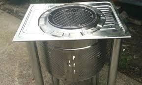 washing machine drum fire pit gallon drum fire pit ideas unique stainless steel garden washing machine
