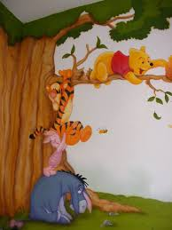 Winnie The Pooh Wall Mural. Nursery Mural. Baby Bedroom Decor. #wallmural #