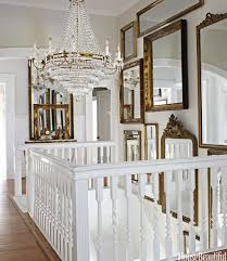 tidbits twine how to decorate tall walls mirror gallery on staircase