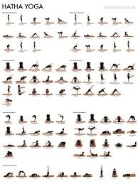 Yoga Pose Chart Poster Hatha Yoga Poster Outdoor Hatha Yoga By The Beach In