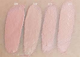 dermacol make up cover foundation left to right 209 210 211 and 212