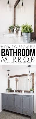 diy bathroom wall decor. DIY Bathroom Decor Ideas - Wood Framed Mirror Tutorial Cool Do It Yourself Bath Diy Wall