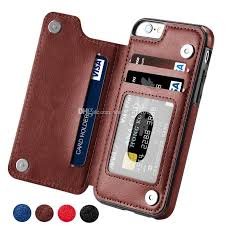 for iphone 5 5s 6 6s 7 8 x magnetic leather wallet case card slot shockproof flip cover for samsung s8 s9 plus designer phone cases best phone cases from