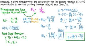 slope intercept form the equation of a line