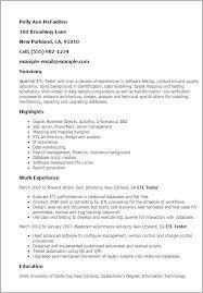 Database Testing Resumes Etl Tester Resume Sample Sample Etl Tester Resume Sample Etl Tester