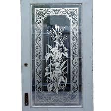 etched glass entry door designs wonderful antique exterior door with beveled glass etched etched glass door