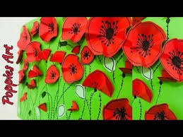 Make A Paper Poppy Flower Easy Craft For Kids Poppies Art How To Make Paper Poppies