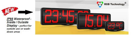 rgb technology introduce a new range made in poland of ip66 waterproof 5cm 10cm and 20cm ntp led clocks here for more information and 2