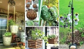 full size of outdoor flower pot ideas outside planters pictures adorable hanging planter to beautify