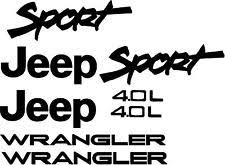jeep wrangler sport logo. Exellent Logo Sport 40L Replacement Fender Decals Sticker TJ 1 SET 19972002 JEEP  WRANGLER For Jeep Wrangler Logo A
