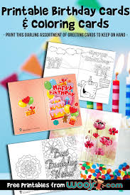 You may send these cards via email. Printable Birthday Cards And Coloring Cards Woo Jr Kids Activities