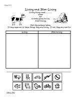 Living And Nonliving Worksheets For Kindergarten - Living and Non ...Math Worksheet : Living And Nonliving Things Worksheets For Kindergarten Living Living And Nonliving Worksheets For