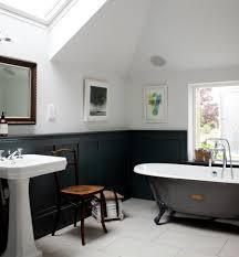 Bathroom Black Wainscoting - Clawfoot tub bathroom