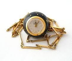 bucherer pendant watch necklace gold