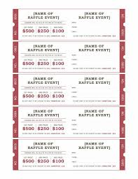 Fundraiser Ticket Template Free Download Enchanting Raffle Ticket Format Raffle Tickets Templates Office