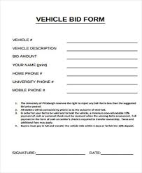 bid form example 10 bid sheet templates free sample example format download