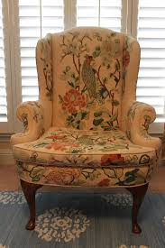 anthropologie style furniture. Vintage Anthropologie Style Crewel Wing Chair By Houseofpemberley Furniture I