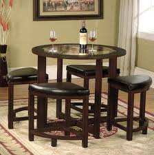 roundhill furniture cylina solid wood glass top round glass top dining table set 4 chairs