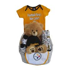 pittsburgh steelers baby gift basket touchdown