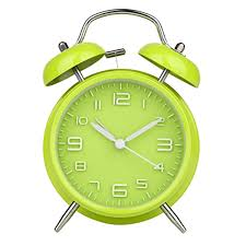 vintage bell alarm clock battery operated loud alarm clock green home decor new hover to zoom vintage bell alarm clock