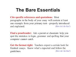 writing strong essays help for the essay impaired ppt  4 the