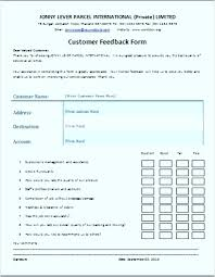 Customer Feedback Form Extraordinary Service Feedback Form Sample The Customer Feedback Form Is A Written