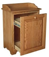 wood slideout kitchen trash can bin regarding cans remodel 4