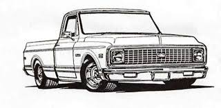 Pickup Truck Drawing Photo | Drawing Skill