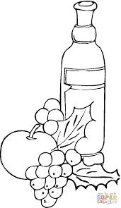 Coloriage Raisins Et Vin Coloriages Imprimer Gratuits