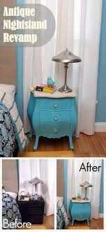 Creative Painted Antique Nightstand | https://diyprojects.com/17-creative