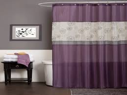 Lush Decor Lake Como Curtains Gray And Purple Shower Curtain Free Image