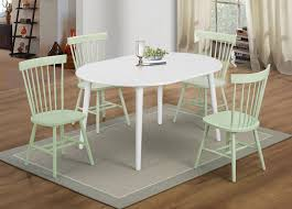 Emmett Oval Dining Room Set W Mint Green Chairs By Coaster