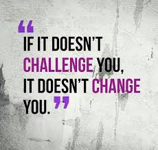 challange fitness motivation quote with a women