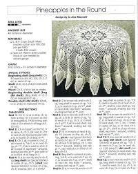 Table Cloth Crochet Tablecloth Pattern Crochet Doilies