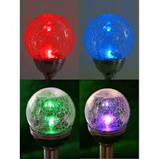 Crackle Glass Globe Solar Lights Pin On Decorative Outdoor Lighting Projectors