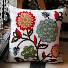 Furniture:Incredible Square Shape Colorful Floral Print Sofa Cushion Cover  Design Idea How to Choose