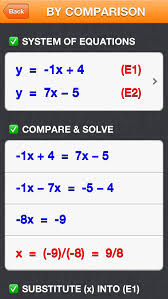 screenshot 6 for solving a system of 2 equations in 2 unknowns