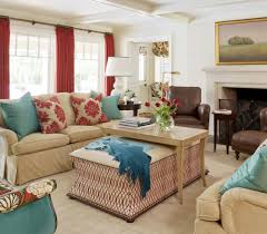 Red And Turquoise Living Room Meadow View Tobi Fairley Interior Design Red Turquoise
