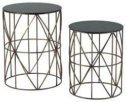 gold metal side table side tables metal round side table set of two gold finish round