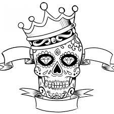 Beautifulmple sugar skull coloring pages amazing printable in sweet simple sugar skull drawing beautiful coloring 1224x1224