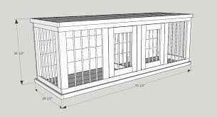 double dog house plans. Farmhouse Style Indoor Double Dog Kennel! Benjamin Moore Eagle Rock Distressed Finish. How Beautiful Is This Piece! All Kennels Feature And \u2026 House Plans B