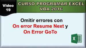 Vba On Error Resume Next Resumes Turn Off Cancel Thomasbosscher