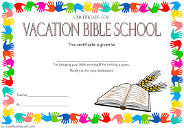 Vbs Certificate Template Printable Vbs Certificates Free Top 10 Template Ideas