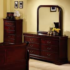 Louis Philippe Bedroom Furniture Cherry Finish Louis Philippe Bedroom W Elegant Sleigh Bed