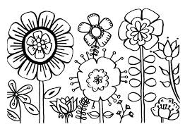 Coloring Pages For Kids Flowers Flower Colouring Pages For Children