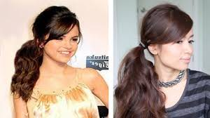 Selena Gomez Hair Style selena gomez tousled ponytail hairstyle for medium long hair 5419 by wearticles.com