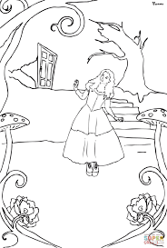 Small Picture Alice in Wonderland coloring page Free Printable Coloring Pages