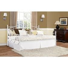 DHP Victoria Full Size White Metal Daybed