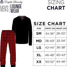 English Laundry Size Chart English Laundry Mens Lounge Set Thermal Waffle Top And